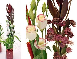 Cultkruka, lisianthus, astrantia, leucadendron