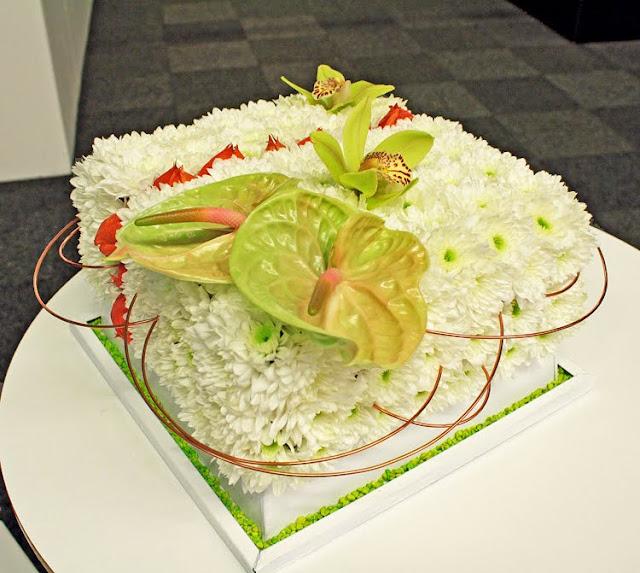 tårta av blommor, EU möte på Nolia Umeå