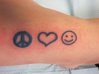 Peace love and happiness =) My Metallica Tattoos - Peace, I got a tattoo