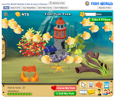 My facebook stuffs my fave facebook game fish world for Fish world on facebook