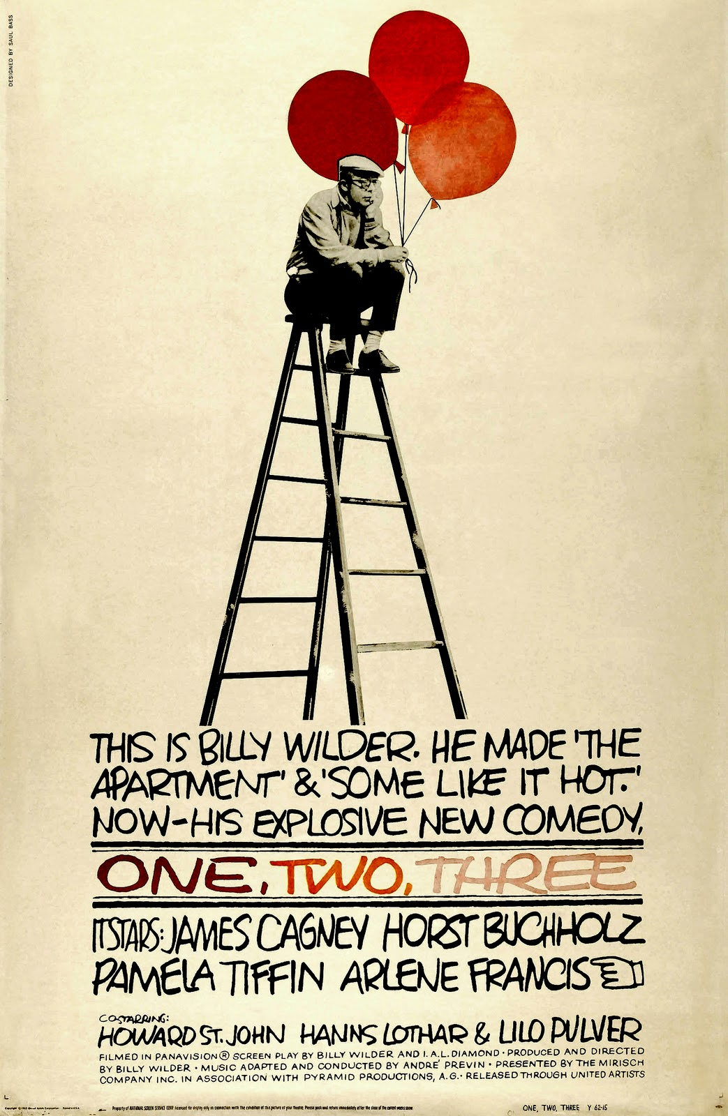 MOVIE POSTERS: ONE, TWO, THREE (1961)
