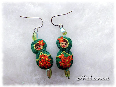 matrioshka earrings