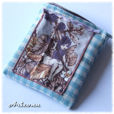 woodland themed zipper pouch