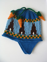 bunnies and carrots hat