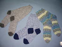 3 pair finished socks