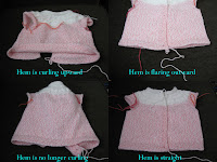 fixing errors in a baby sweater
