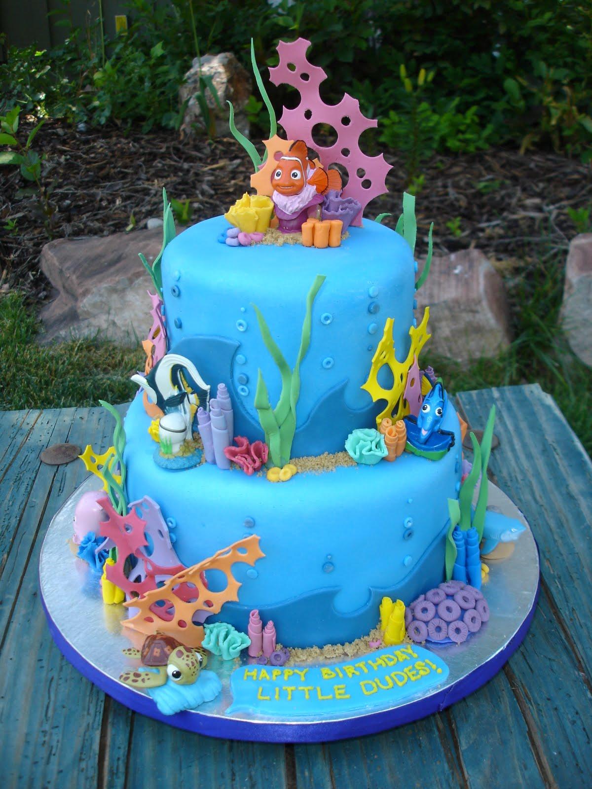 Cake Design Nemo : Image Birthday Cake Finding Nemo Or Ladybug Is Download
