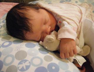 Newborn Sasha on Boppy
