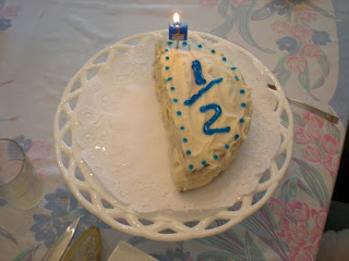 Speaking Of 6 Month Birthdays During Our Fathers Day Brunch Grammy Made Boy A Very Special Half Birthday Cake And We Sang Quick Melodious