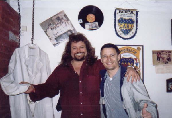 Omar Lefosse (Palmiro Caballasca) junto a Sergio Orellana