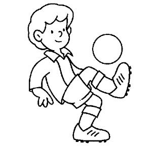 desenhos para colorir para meninos de futebol