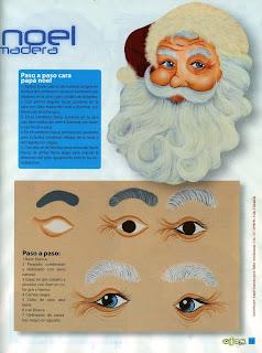 olhos de papai noel