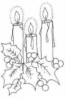 Riscos de Velas e Sinos de Natal