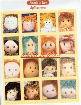 Carinhas de bonecas