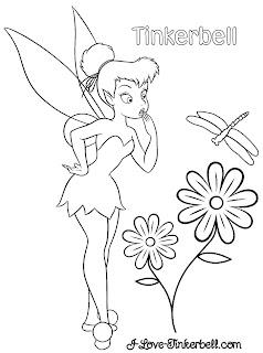 Tinkerbell flower color 730836 Tinkerbell para imprimir e colorir para crianças