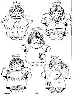 Desenhos Para Colori Anjos natalinos e palhaços desenhar