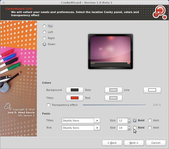 Ubuntu porady spod lady conky klikalny konfigurator for Xanax haute dose
