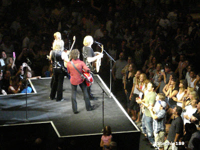 4/5's of my favorite band in the world, Def Leppard, on the catwalk during their 2007 Downstage Thrust Tour. You guys rocked!