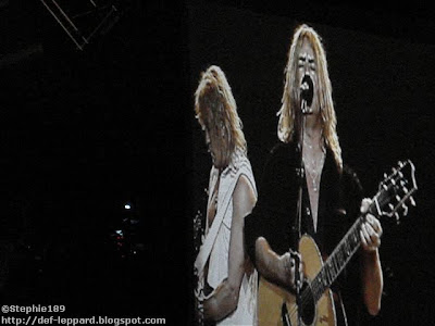 Sav & Joe (on the big screen) - Def Leppard - 2008