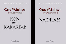 Otto Weininger: Samlade skrifter 1-2