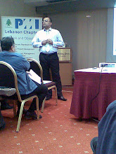 Presentation with PMI-Lebanon Chapter at the Holiday Inn,  Dec08