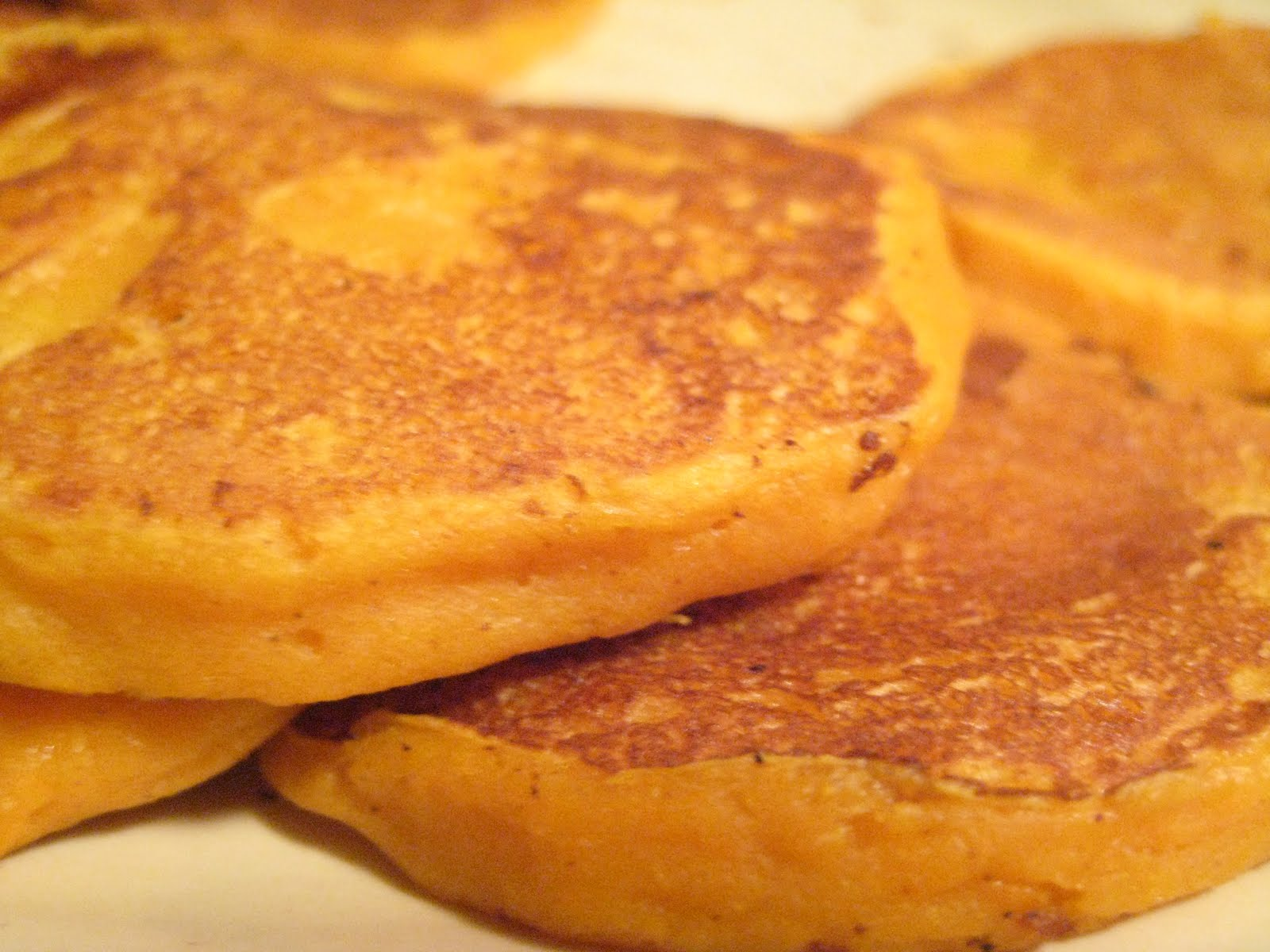 to him and then there were pancakes sweet potato pancakes