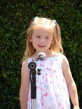 girl at microphone