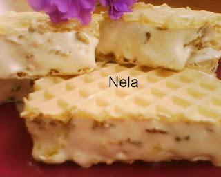 Articole culinare : Napolitane cu crema alba si cereale