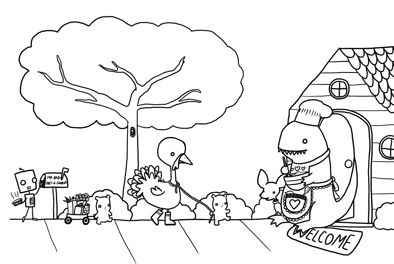 thanksgiving feast coloring pages - photo#28