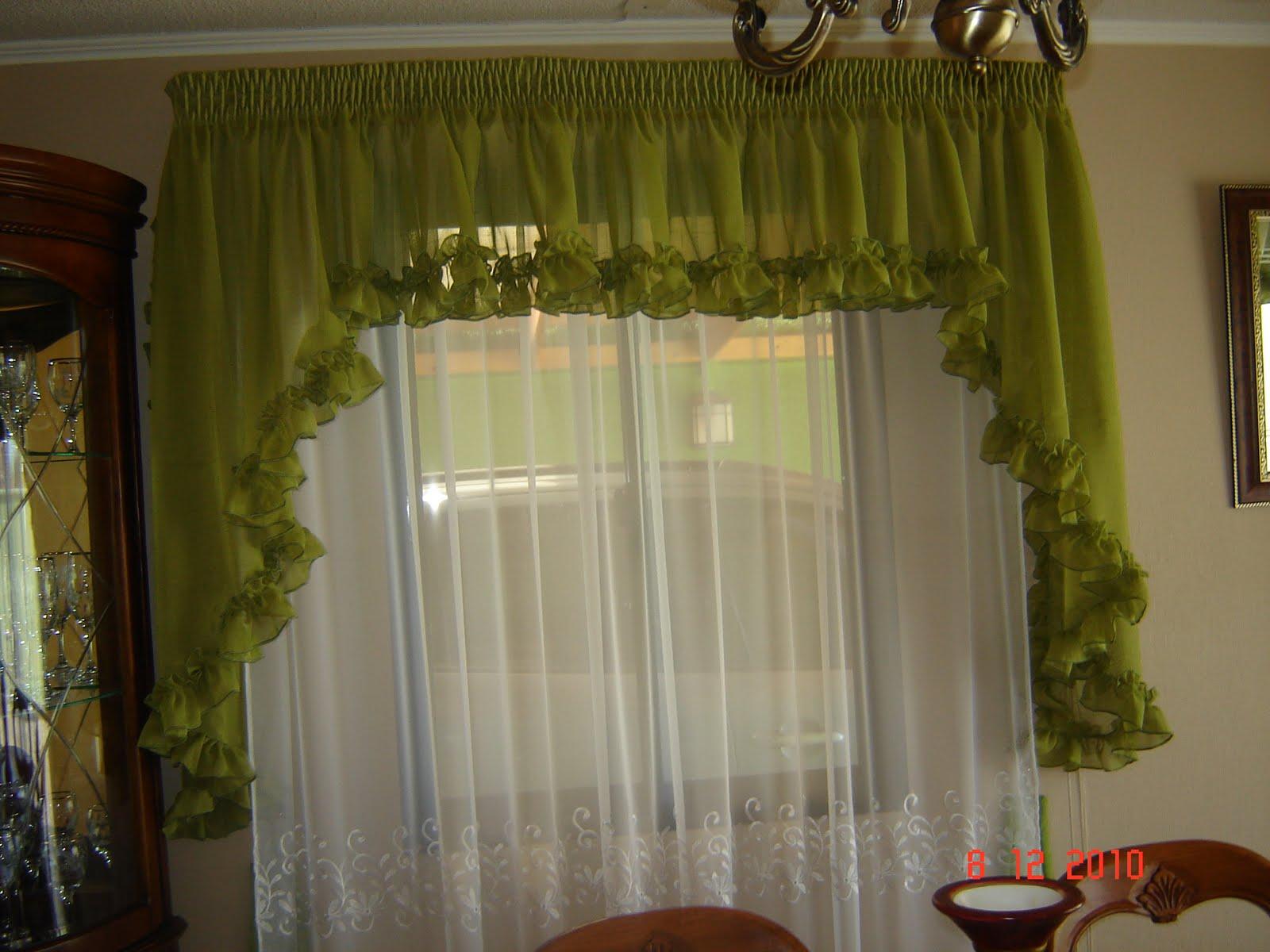 Cot confecciones cenefa con cascadas en velo r stico ideal para cortina semi rom ntica - Modelos de cenefas para cortinas ...