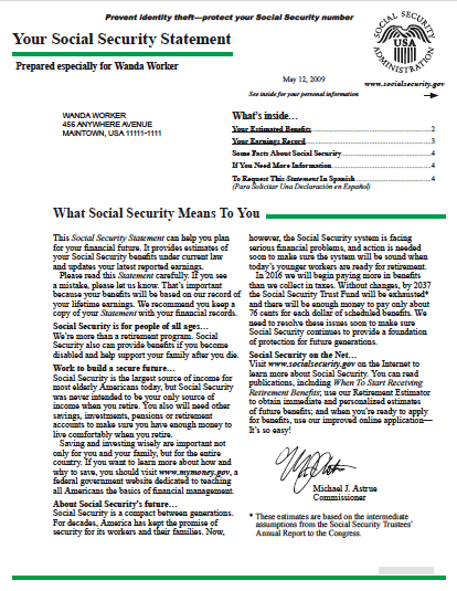 Bneato You Social Security Statement And What To Do