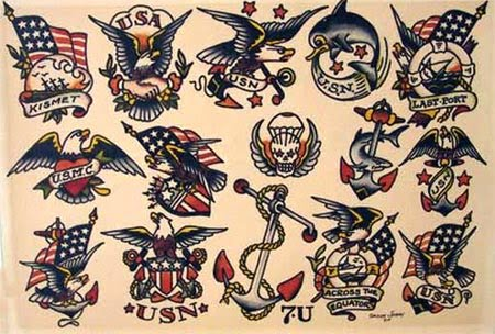Sailor Jerry Tattoos. Other popular symbols include: • Bottles of booze