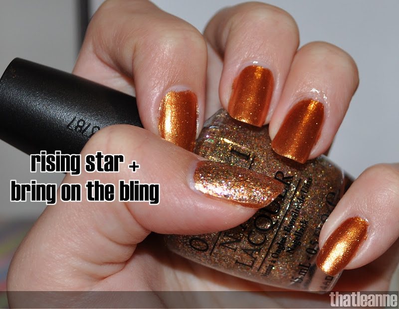 OPI Bring on the Bling and Rising Star! title=