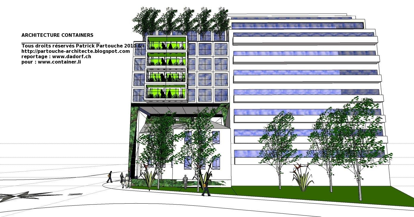 Plan de maison mitoyenne a etage Immeuble container