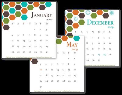 free 2009 desk calendar download