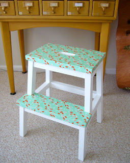 ikea stool diy project from design sponge