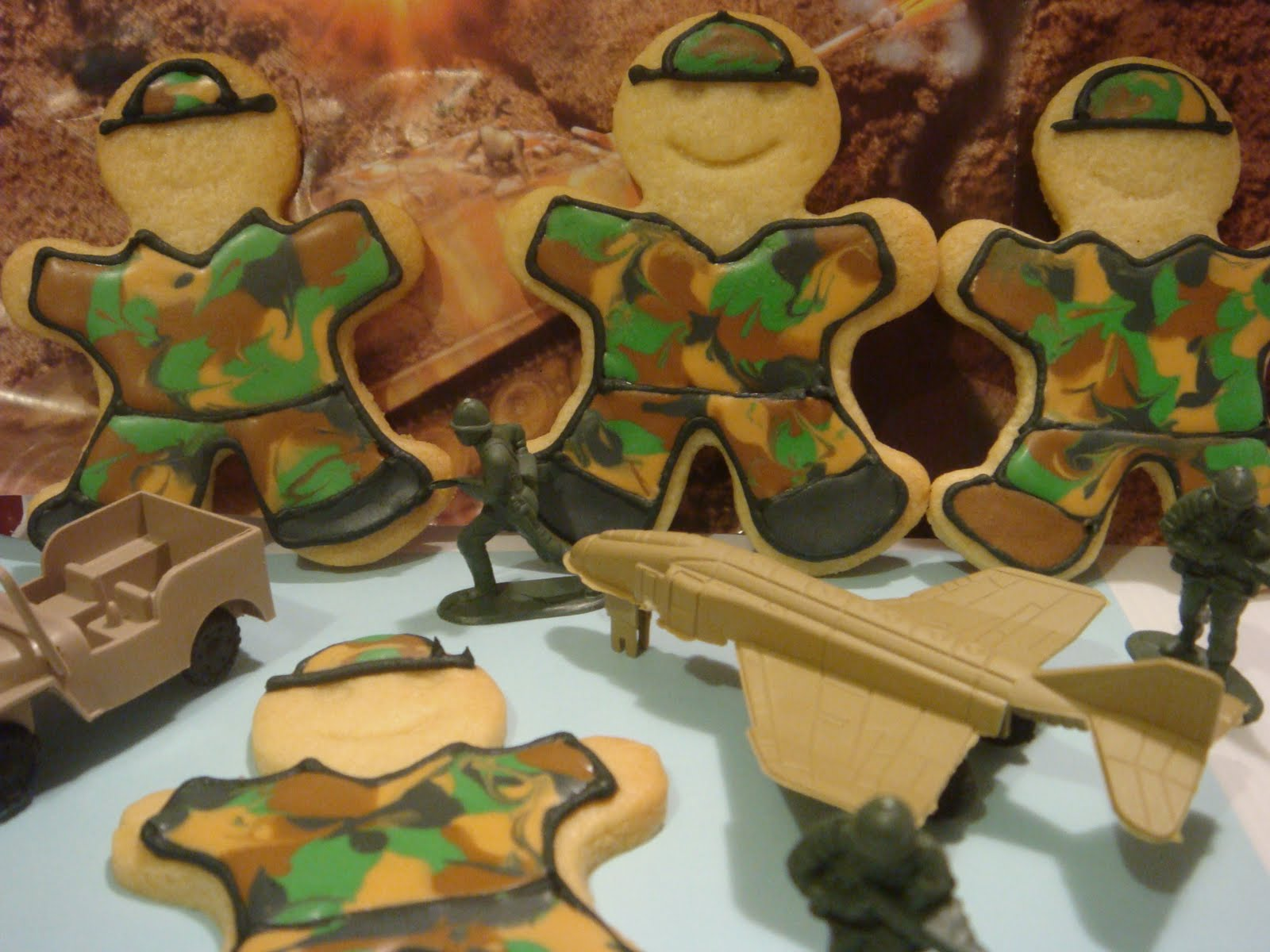 Butter Hearts Sugar Army Man Cookies