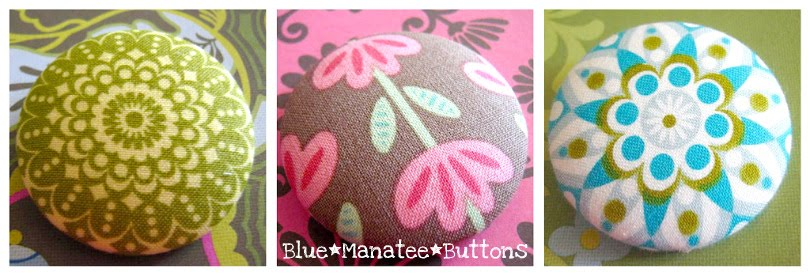 Blue Manatee Buttons