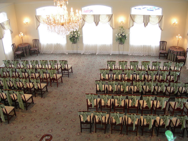 Set up for an indoor ceremony