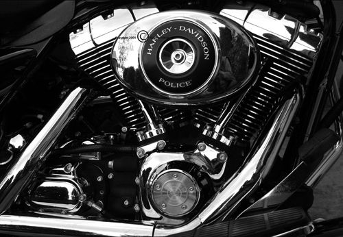 motorcycle cartoon: Police