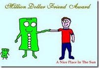 Blog Award - Million Dollar Friend