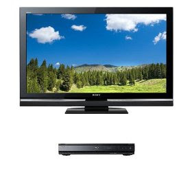Sony Bravia V-Series KDL-40V5100 40-Inch 1080p LCD Flat Panel HDTV & Sony BDP-N460 Blu-ray Disc Player Bundle