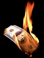 Burning $100 Bill, Source: John Kline, house.gov