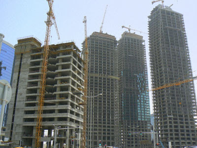 New buildings going up in Al Dafna, Doha