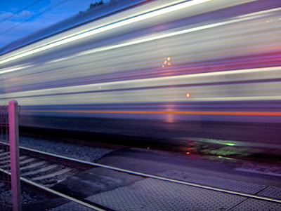 A high speed train in Action.