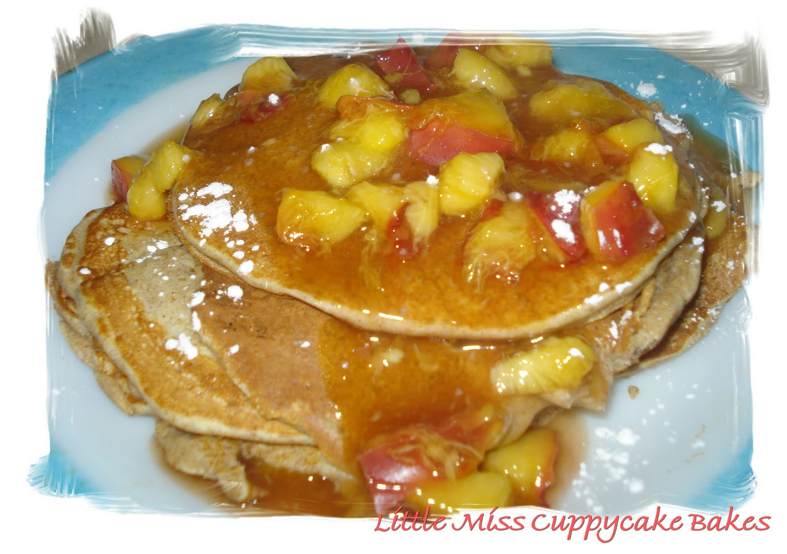 Dame Good Eats: Whole Wheat Cinnamon Peach Pancakes