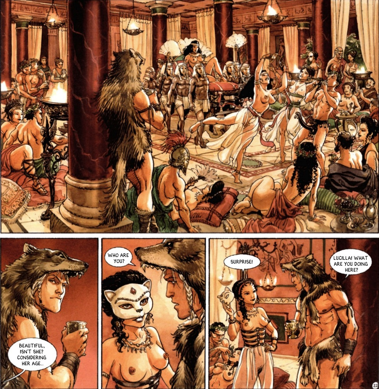 Illustration comics roman orgy