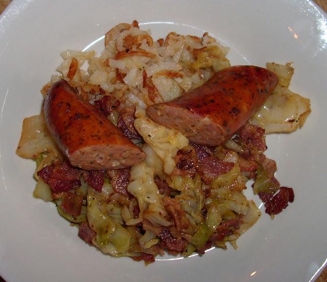 Bacon w/ Cabbage | www.girlichef.com