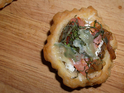 Tomato & Goat Cheese Tartlettes