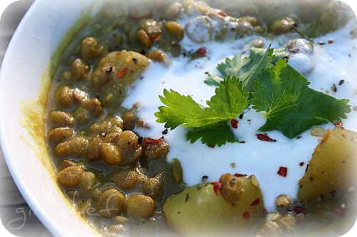 Lentils and Potatoes with Curry